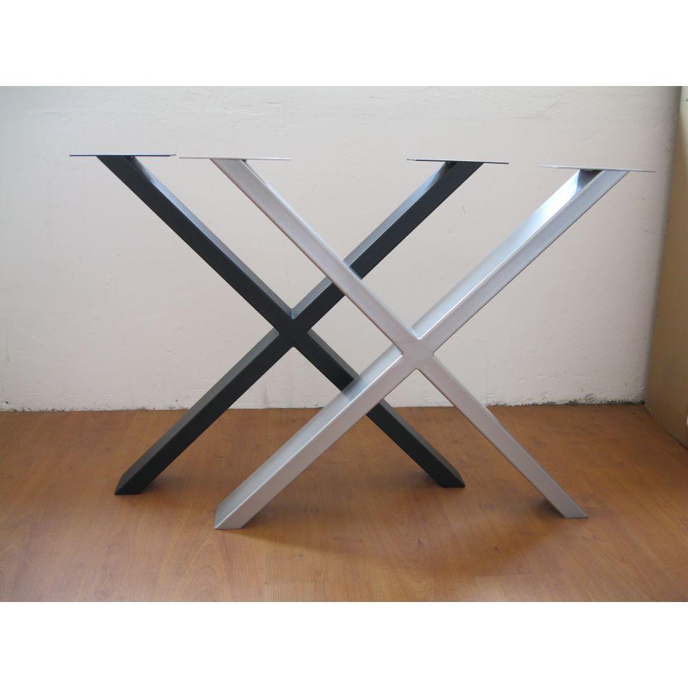 Farben NEU Homestore24 Tischgestelle Tischbeine Metallgestelle X-Form versch